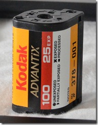 Closeup of APS/Advantix Film Canister (100 ISO, 25 Exposures)