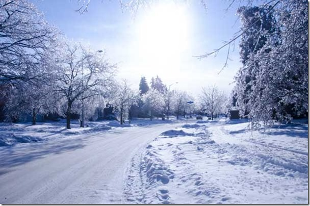 Picture of an icy winter road